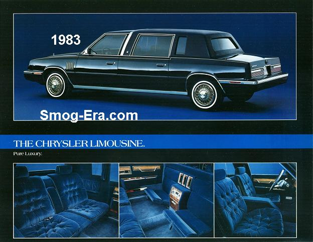 chrysler executive limousine 1983