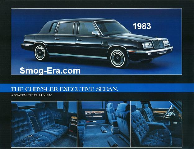 chrysler executive sedan 1983